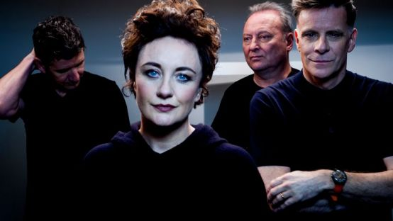 Lorraine Mc Intosh pictured with members of Deacon Blue
