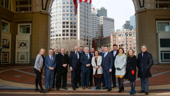 Pictured in Boston, the delegates from Donegal and Derry City & Strabane District Council areas