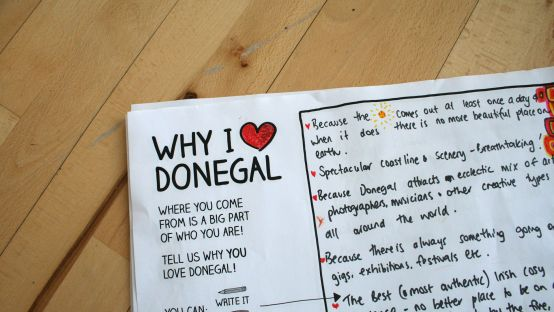 Image of writing about why someone loves Donegal