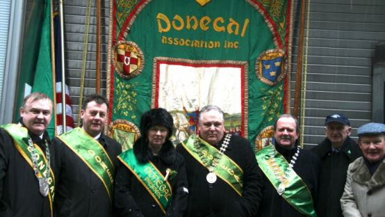 Image of Donegal Councillors with Donegal Association NY on St. Patrick's Day