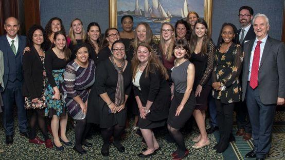 Staff at the Rian Immigrant Centre, Boston