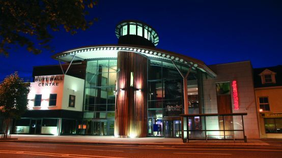 Balor Arts Centre at night