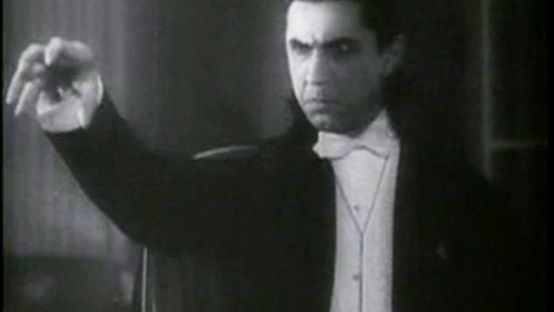Black and White Image of Dracula
