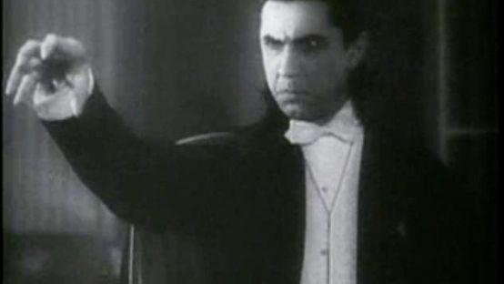 Black and White Image of Dracula