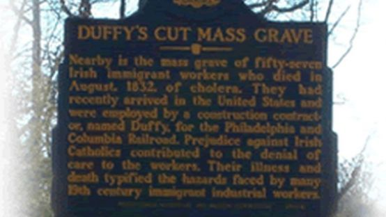 Image of Duffy's Cut Mass Grave headstone