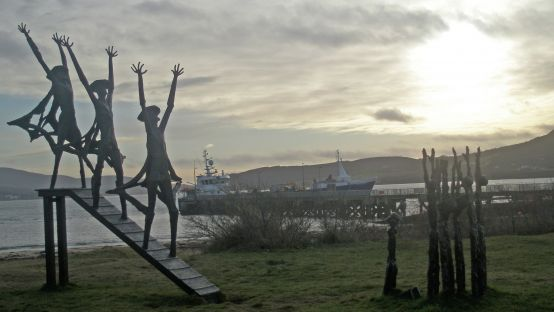 Flight of the Earls Monument. Rathmullan. Photo Courtesy of Michael McFadden