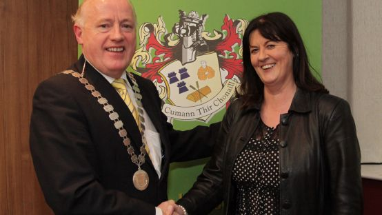 Image of Martin McGettigan, President & Sorcha Ní Dhomhnaill, Chairperson