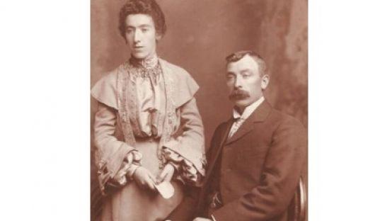 Image of Con and Etta Kennedy, Ardara, Sepia coloured