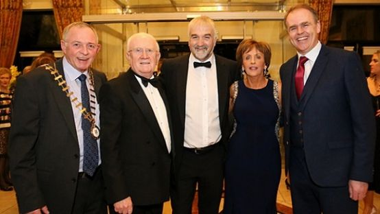 Donegal Person of the Year 2016 pictured with the Cathaoirleach Terence Slowey, Deputy Pat the Cope Gallagher and Minister Joe Mc Hugh