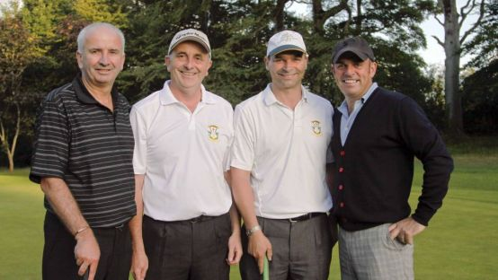 Ryder Cup 2014 Captain Paul McGinley on right with other golfers