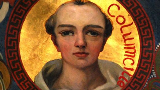 Image of Painting of Colmcille situated in St. Eunans Cathederal