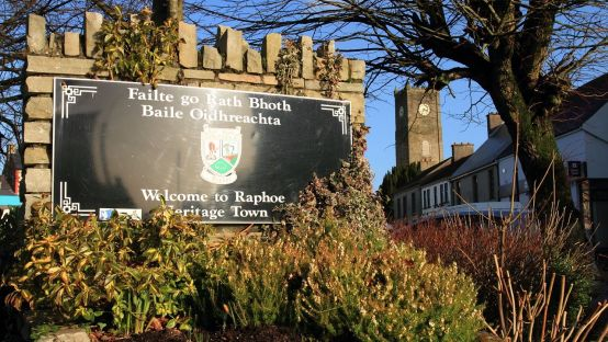 Image of Raphoe Heritage Town with plaque