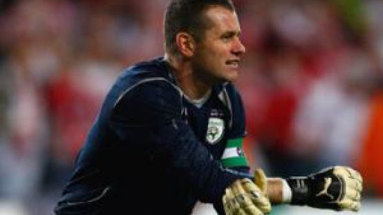 Picture of Shay Given in football wear during a game