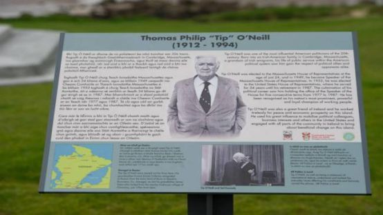 Tip O'Neill Plaque at Shore Front Buncrana