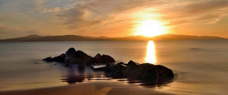 Buncrana Sunset, courtesy of Peter French, LKfoto Club