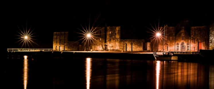 Ramelton at Night, courtesy of Stevie Toye, LKfoto Club