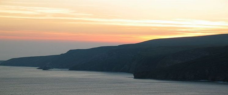 slieve league at sunset