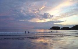 image of a bundoran beach at sunset