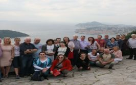 Participants pictured on the international study visit to the Balkans