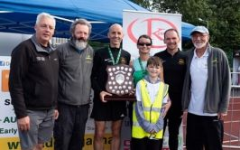 Presentation of Winners trophy by Mary Larkin at the 2019 Event.