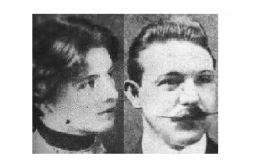 Black and White Image of the couple
