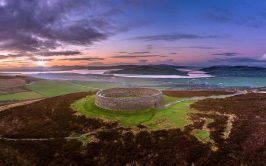 An Grianan Fort in Inishowen over looking the beautiful Inch Levels