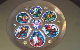 Image of the Rose Window, Holy Family Church, Ardara.