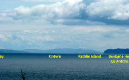 Image of Scottish Island from Donegal